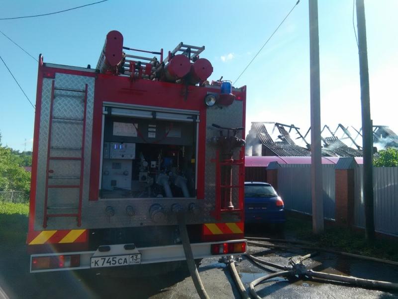 Утренний пожар едва неуничтожил дом впригороде Саранска