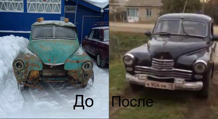 Мужчина из Мордовии своими руками реставрирует автомобиль 1948-го года