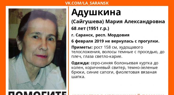 В Мордовии продолжаются поиски Марии Адушкиной