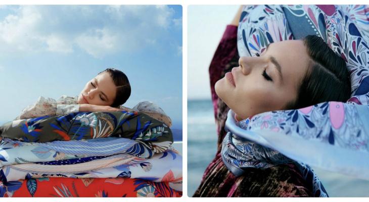 Пляжный образ: как правильно подобрать и носить легкие платки и палантины