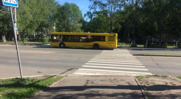 Жительницу Саранска сбил автобус на пешеходном переходе
