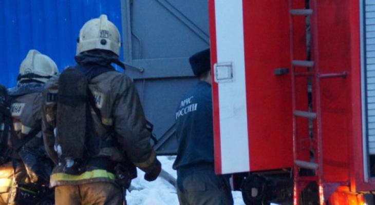 В центре Саранска тушили пожар