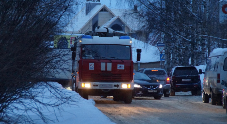 Пожар на улице Студенческая в Саранске: в комнате найдено тело мужчины