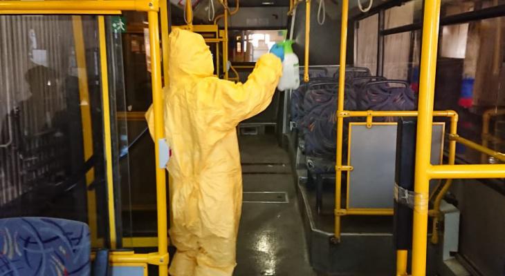 В Саранске из-за коронавируса начали дезинфекцию общественного транспорта