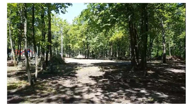 В Саранске начали благоустраивать парк Ленинского района