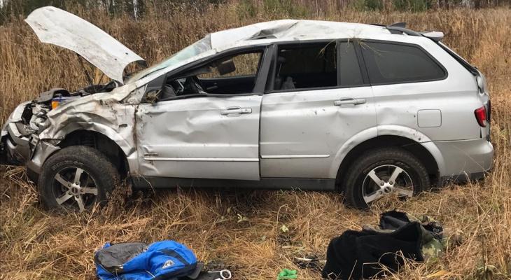 В Мордовии иномарка слетела в кювет: водитель скончался в больнице