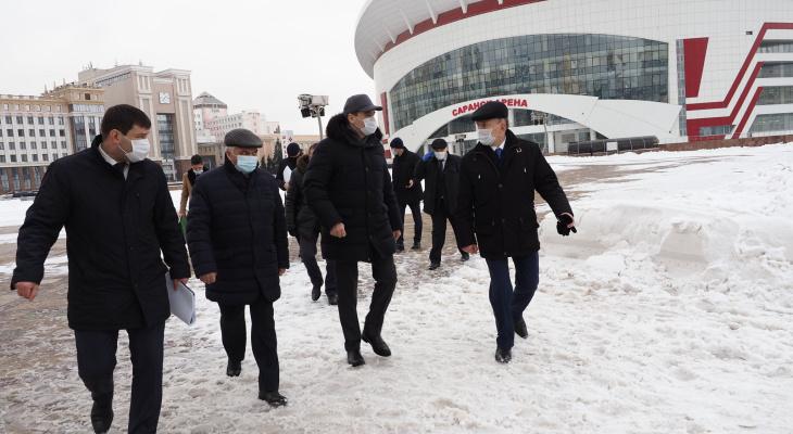 Артем Здунов посетил долгострой в центре Саранска