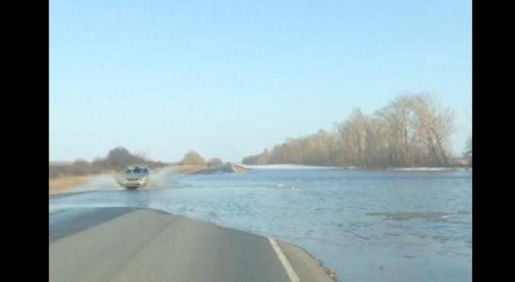 В Мордовии была затоплена дорога между Рузаевкой и Ковылкинским районом