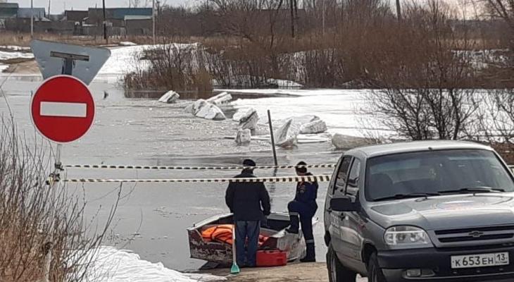 В Мордовии к 5 апреля затопило 15 низководных мостов из 19
