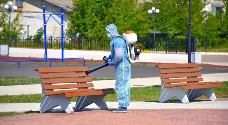 В Мордовии проводят санобработку мест с массовым пребыванием людей