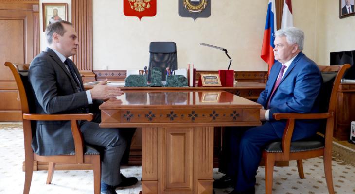 Артем Здунов провел встречу с сенатором от Мордовии Петром Тултаевым