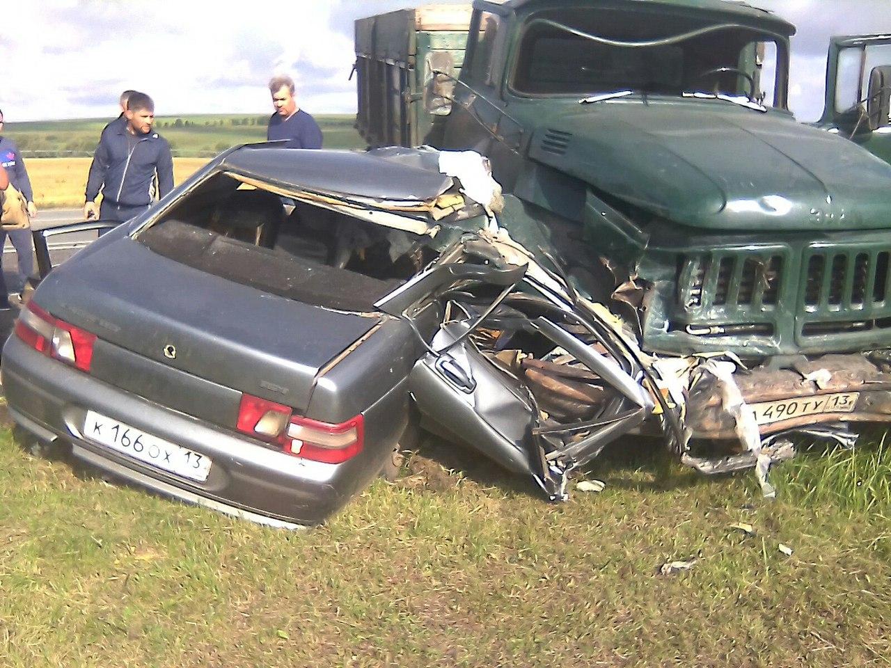 Авария на ромодановской трассе фото